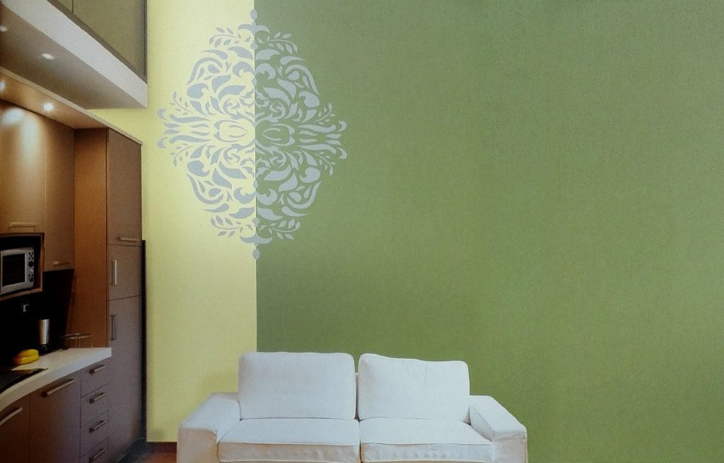 Monarchy : Wall Stencil Painting Design