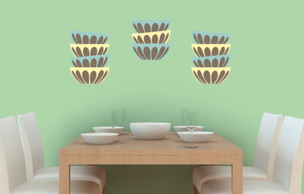 Potluck : Wall Stencil Painting Design