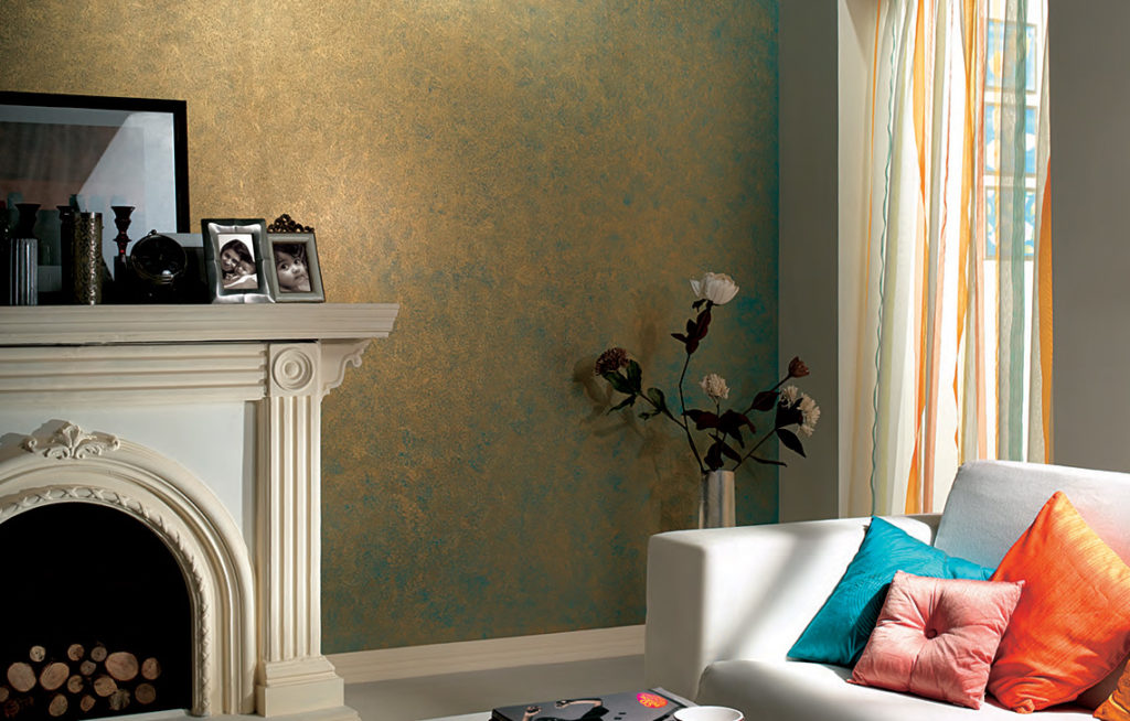 Sponging - Wall Texture Painting Design
