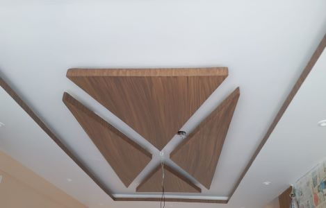 Wooden Triangle POP ceiling